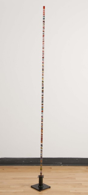 Fernando Pezzino, Individual Connectivity, 2014  Acrylic rod, acrylic paint, metal base  Dimensions variable  pez001