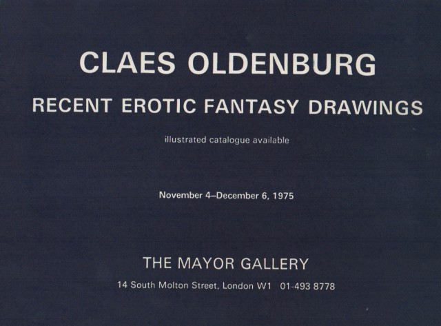 CALES OLDENBURG, Recent Erotic Fantasy Drawings