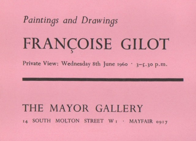 FRANÇOISE GILOT, Paintings and Drawings