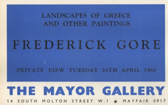 FREDERICK GORE, Landscapes of Greece and Other Paintings
