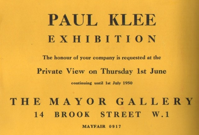 PAUL KLEE, Paintings, Drawings, Watercolours, Gouaches and Pastel