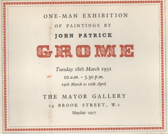 JOHN PATRICK GROME , Paintings