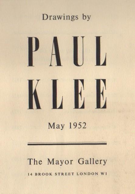 PAUL KLEE, Drawings