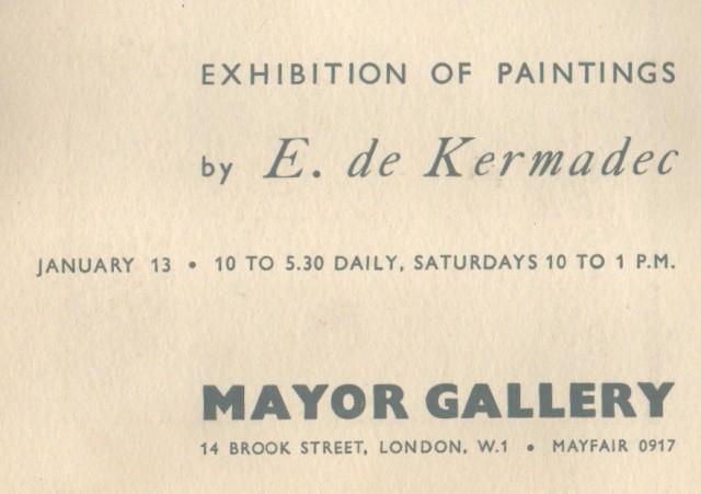 EUGENE DE KERMADEC, Paintings