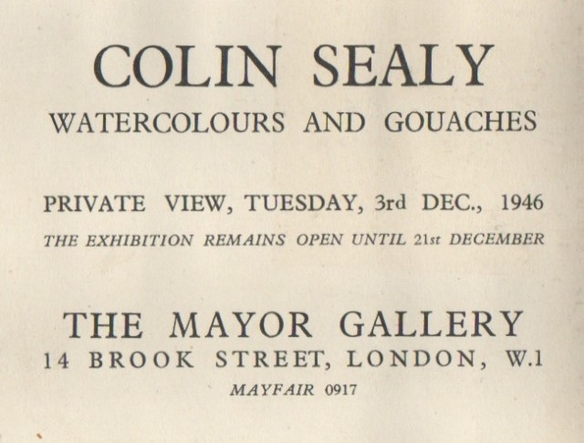 COLIN SEALY, Watercolours and Gouaches