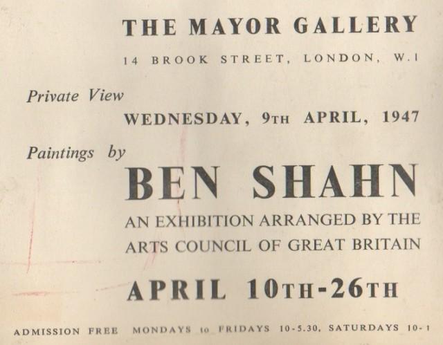 BEN SHAHN , Paintings