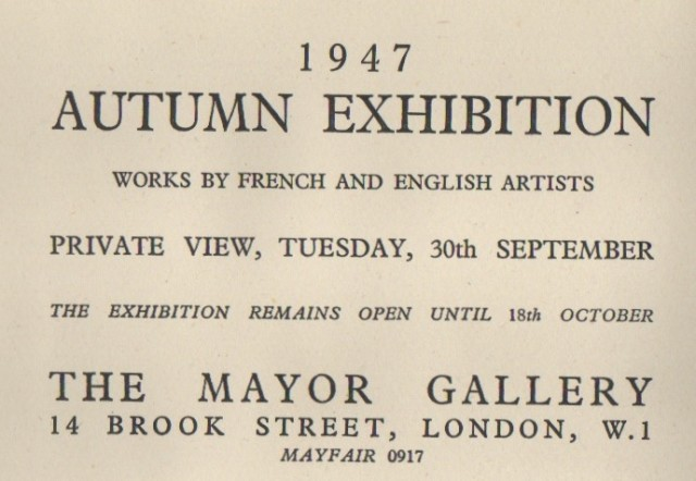 AUTUMN EXHIBITION, Works by French and English Artists