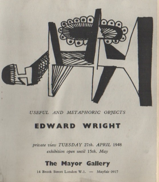 EDWARD WRIGHT, Useful and Metaphoric Objects