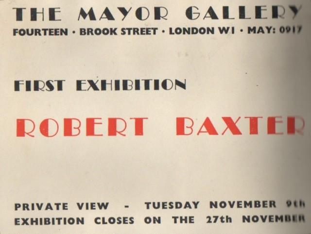 ROBERT BAXTER , Paintings and Drawings