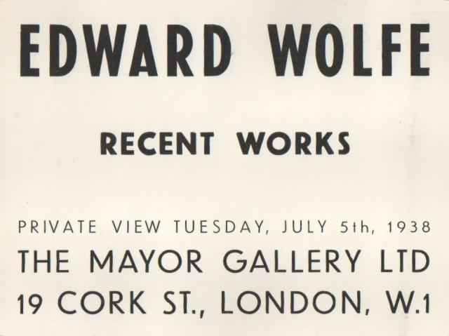 EDWARD WOLFE, Recent Works