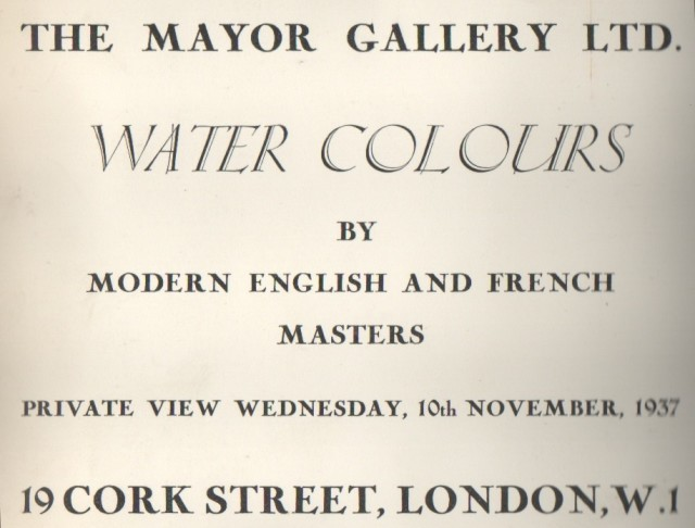 WATERCOLOURS, By English and French Masters
