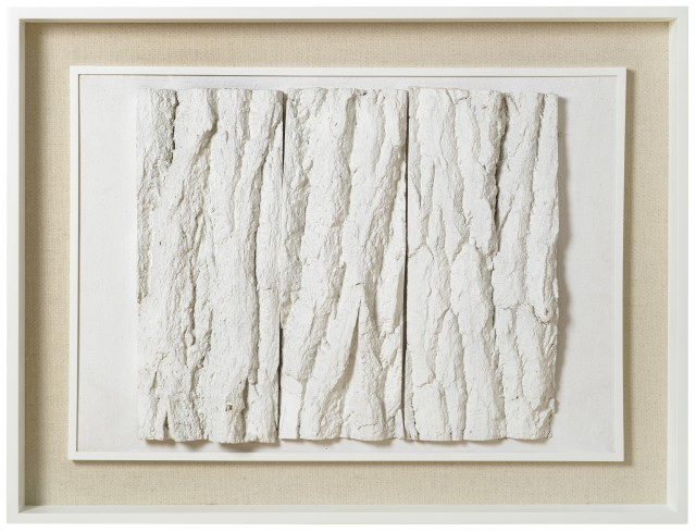ENEA FERRARI, Untitled, 1954 White painted bark on board 50 x 71 x 4 cm 19 ⅝ x 28 x 1 ½ inches €32,500.00