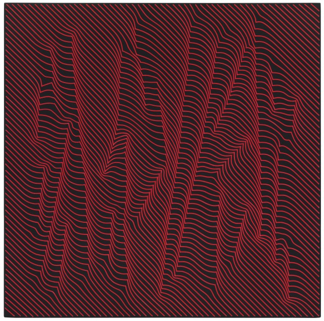 JULIAN STAŃCZAK, Woods, Warm Red Lights, 2009 Acrylic on panel 60 x 60 cm 23 ⅝ x 23 ⅝ inches