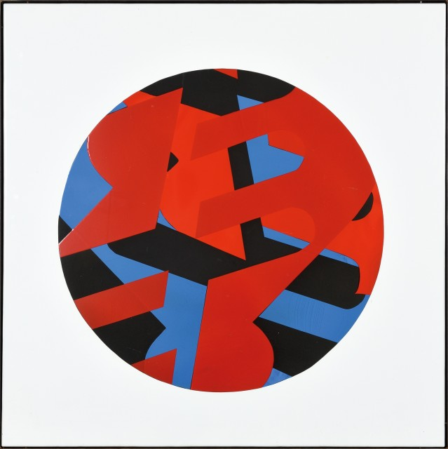 KÁROLY KISMÁNYOKY  Untitled, 1972  Enamel on metal plate  100 x 100 cm 39 ½ x 39 ½ inches