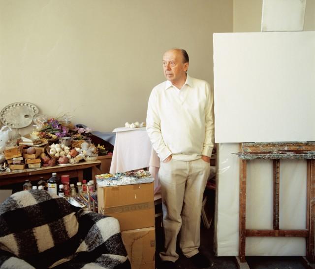 Josip Vaništa in his studio © Luka Mjeda