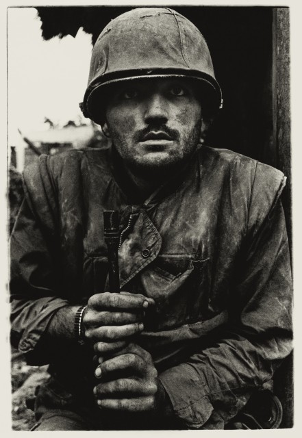 Don McCullin Shell-shocked US Marine, The Battle of Hue 1968, printed 2013 ARTIST ROOMS Tate and National Galleries of Scotland....