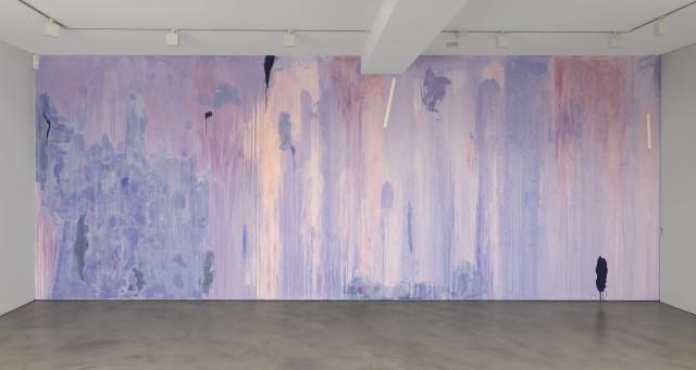 Thu-Van Tran, Penetrable, 2019, Pigment and latex. Installation view at Olivier Malingue, London.