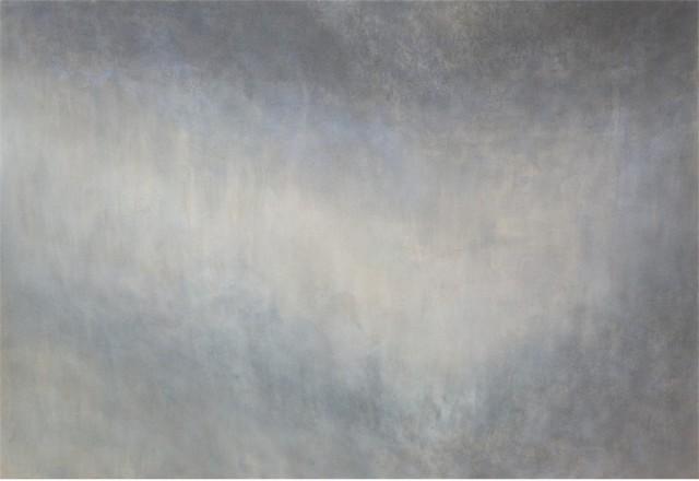 Makoto Ofune, Wave #52, 2008-2017, Powdered mineral pigment on hemp paper mounted on board, 95 x 138 cm