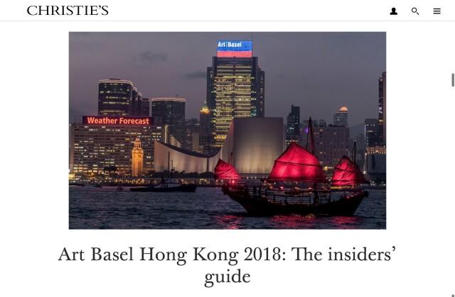 Art Basel Hong Kong 2018: The Insider's Guide