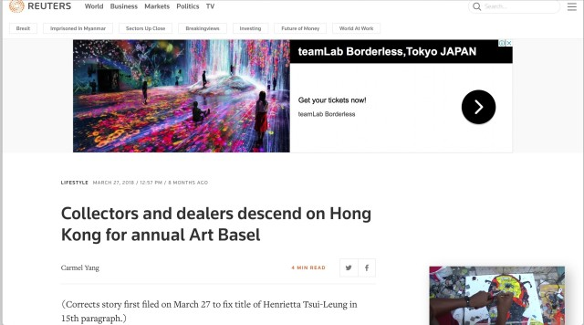 Collectors and dealers descend on Hong Kong for annual Art Basel