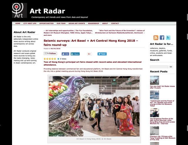 Seismic surveys: Art Basel + Art Central Hong Kong 2018: Fairs round-up
