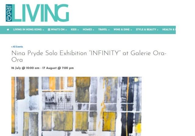 """Nina Pryde Solo Exhibition """"INFINITY"""" at Galerie Ora-Ora"""