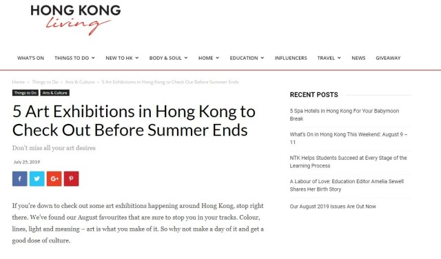 5 Art Exhibitions in Hong Kong to Check Out Before Summer Ends