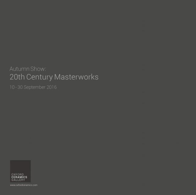 AUTUMN SHOW: 20TH CENTURY MASTERWORKS