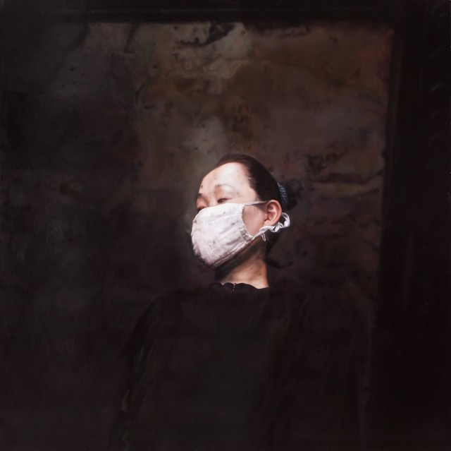 SARS-White Mask No.2, 2009, Oil on canvas, 130 x 130 cm