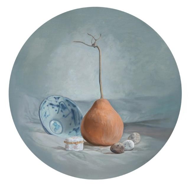 乡梦之五,2009,布面丙烯,50 x 50 cm
