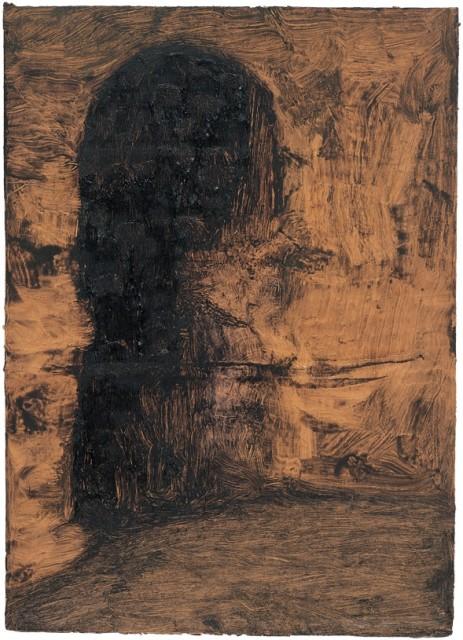 Landscape, 2001, Oil on paperboard, 34 x 16 cm
