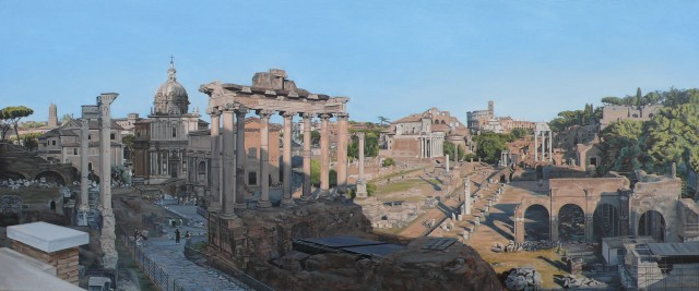 "David Wheeler  ""The Forum, Rome""  56 x 130 cm  Oil on linen"