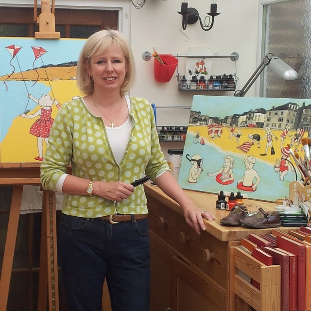 Ann Winder-Boyle in her studio