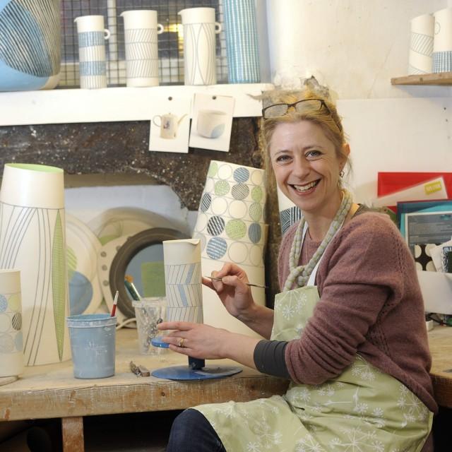 Lara Scobie in her workshop