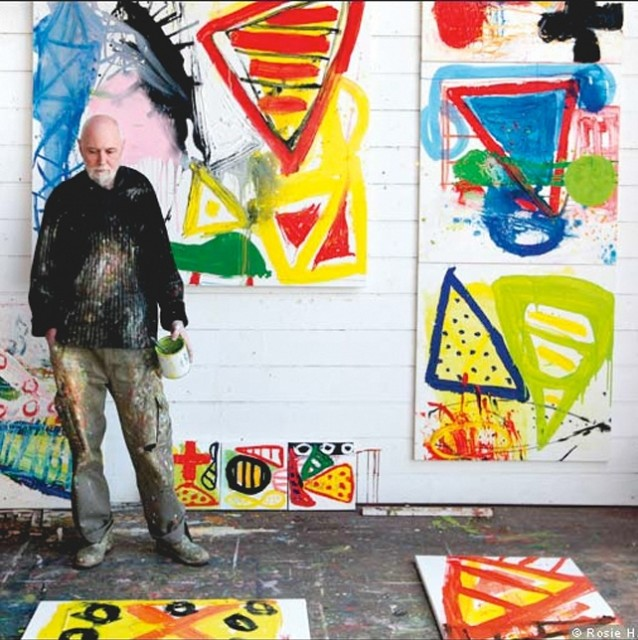 Iain Robertson in his Porthmeor studio (photo by Rosie Hallam)