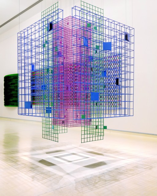 Rashid Khalifa explores the beauty of textured shadows and light cast through polychromatic metal structures