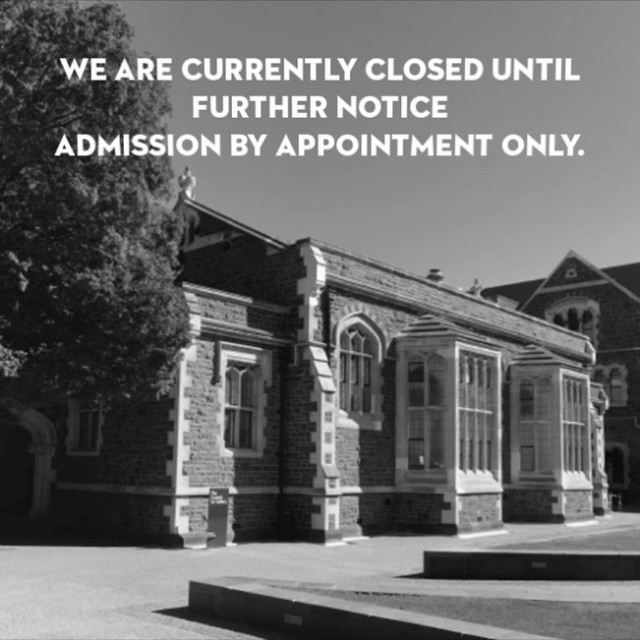 The Central closed until further notice, admission by appointments only