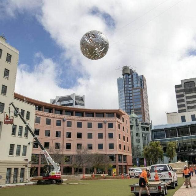 Neil Dawson back in Wellington's Civic Square