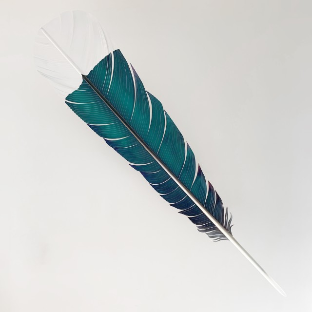 Neil Dawson Huia Feather, 2019 Aluminium, acrylic and automotive paint 1800 x 450 x 200mm