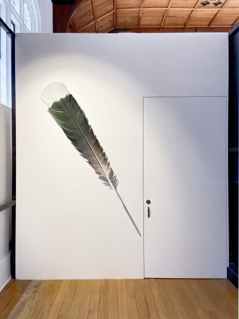Neil Dawson Huia Tail Feather Green, 2019 Aluminium, acrylic and automotive paint. 1760 x 380 x 370 mm