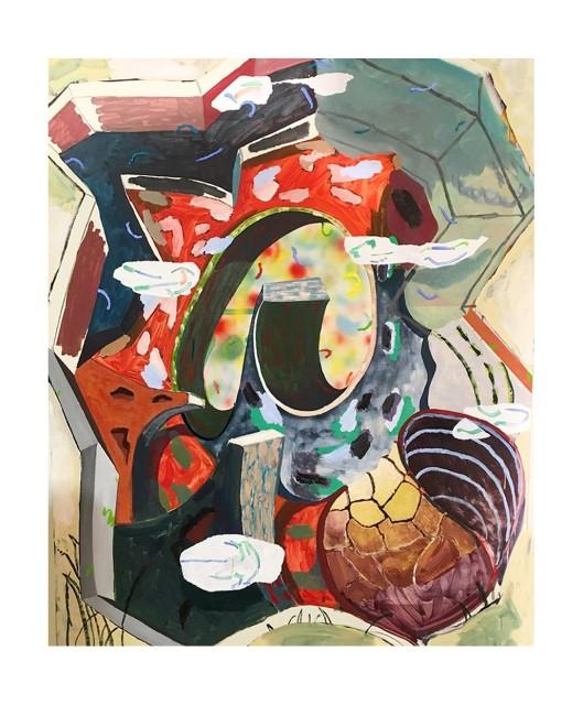 "Inside A Broken Snail Shell 2017 | oil on canvas | 152 x 121cm (60 x 48"")"
