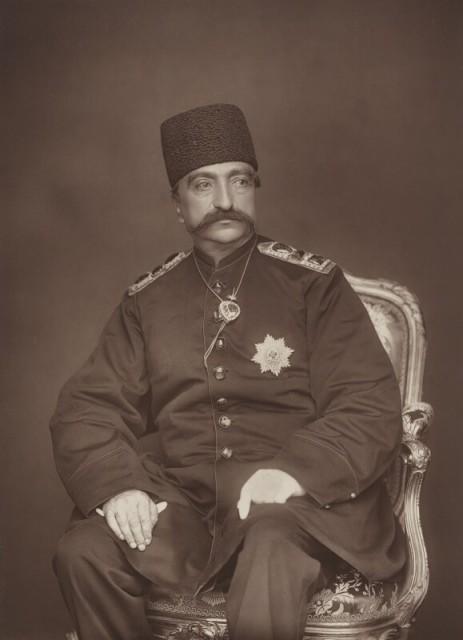 Herbert Rose Barraud, Naser al-Din Shah Qajar, 1889