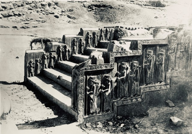 Ernst Herzfeld, Palace of Darius I, Central Facade of Southern Stairway, Persepolis, 1933