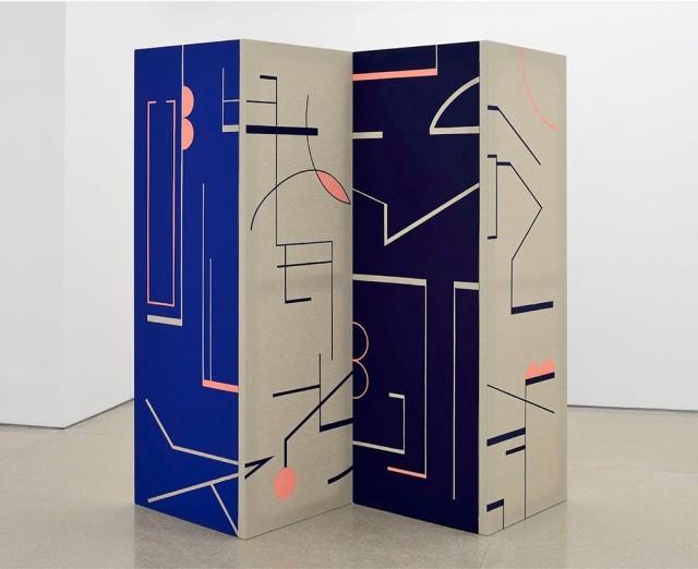 The Piranesi Effect (Screen), 2017 Tempera on linen, 4 panels of 180 x 60 cm