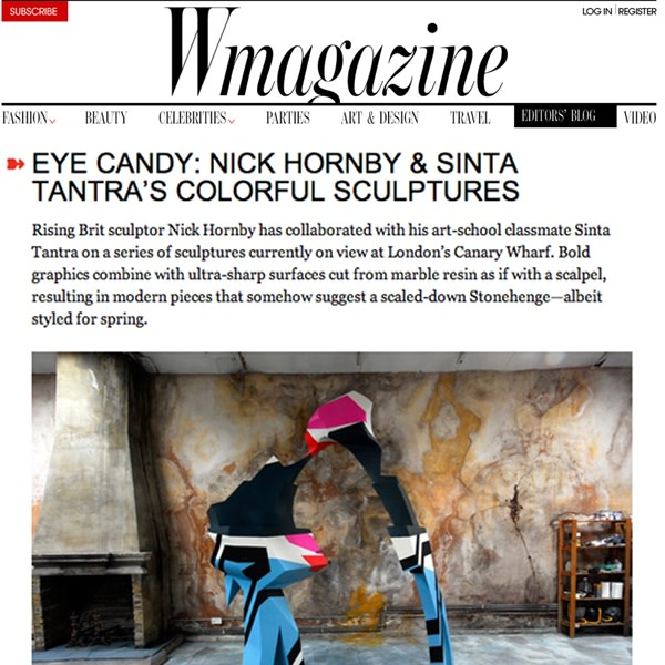 EYE Candy: nick Hornby & Sinta Tantra