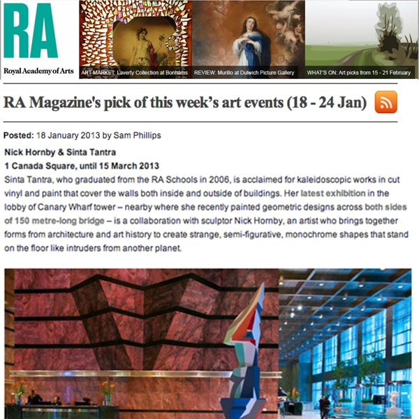 RA Magazine's pick of this week's art events (18-24 Jan)