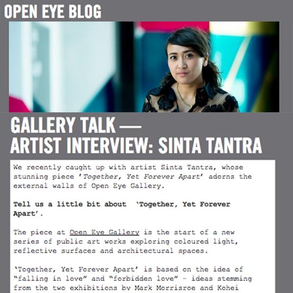 Gallery Talk - Artist Interview: Sinta Tantra