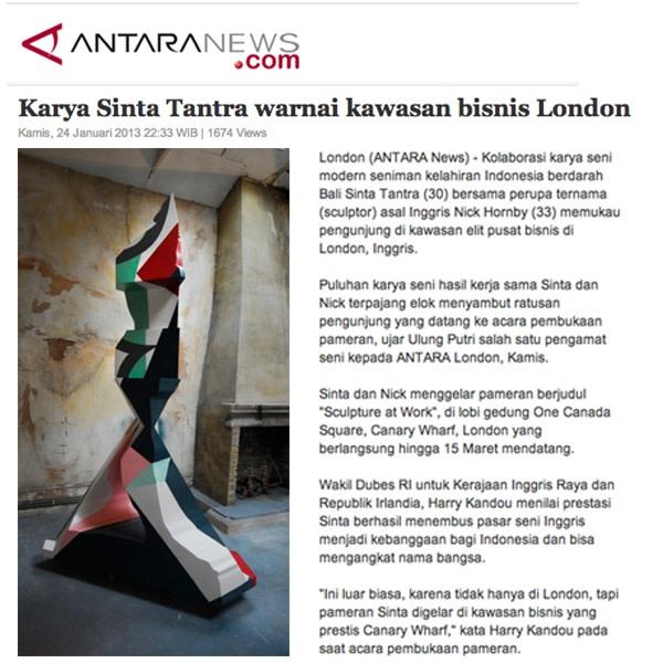 Karya Sinta Tantra warnai kawasan bisnis London