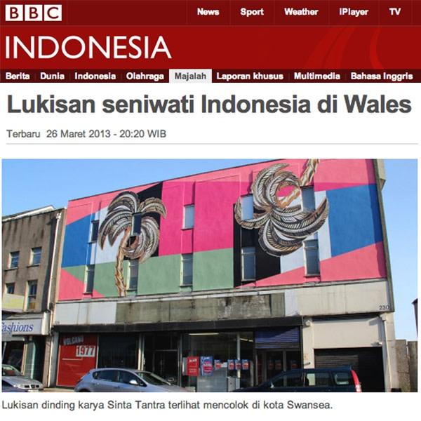 Lukisan seniwati Indonesia di Wales