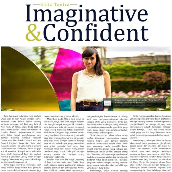 Sinta Tantra: Imaginative & Confident